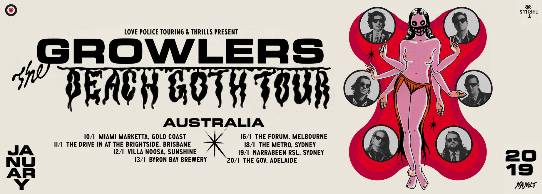 The Growlers Beach Goth Tour - AUSTRALIA