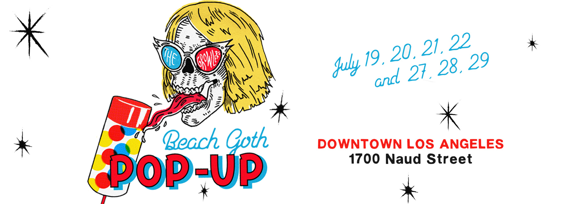 THE GROWLERS BEACH GOTH POPUP