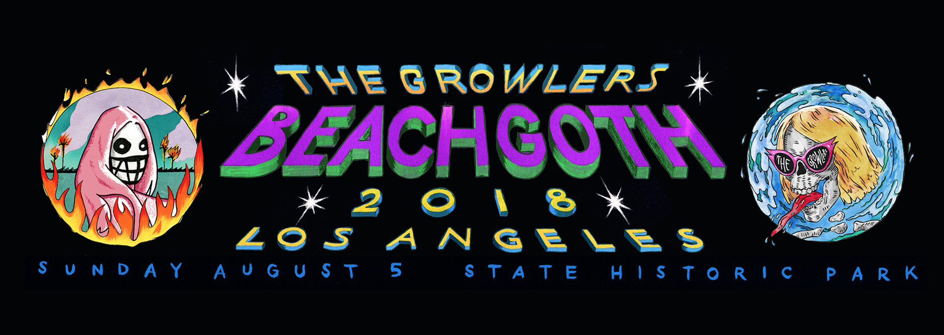 THE GROWLERS BEACH GOTH AUGUST 2018 LOS ANGELES
