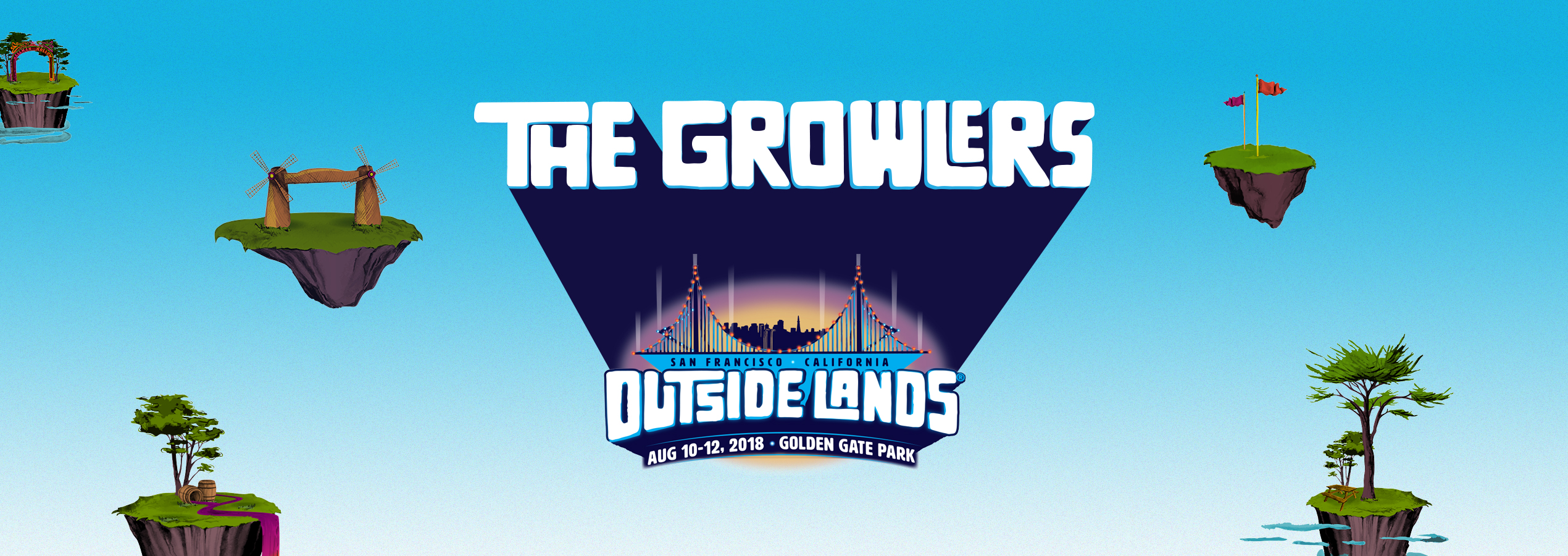 THE GROWLERS OUTSIDE LANDS AUGUST 2018 POSTER